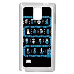 Who Is Outside Ugly Holiday Christmas Black Background Samsung Galaxy Note 4 Case (white) by Onesevenart