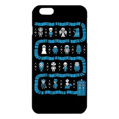 Who Is Outside Ugly Holiday Christmas Black Background Iphone 6 Plus/6s Plus Tpu Case by Onesevenart