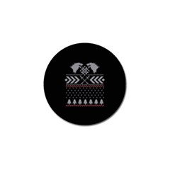 Winter Is Coming Game Of Thrones Ugly Christmas Black Background Golf Ball Marker by Onesevenart