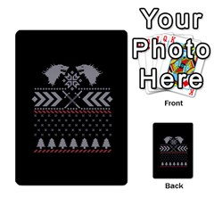 Winter Is Coming Game Of Thrones Ugly Christmas Black Background Multi Purpose Cards (rectangle)  by Onesevenart