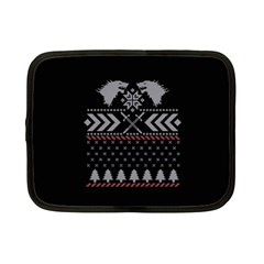 Winter Is Coming Game Of Thrones Ugly Christmas Black Background Netbook Case (small)  by Onesevenart