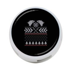 Winter Is Coming Game Of Thrones Ugly Christmas Black Background 4 Port Usb Hub (one Side) by Onesevenart