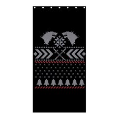 Winter Is Coming Game Of Thrones Ugly Christmas Black Background Shower Curtain 36  X 72  (stall)  by Onesevenart