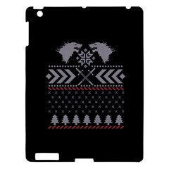 Winter Is Coming Game Of Thrones Ugly Christmas Black Background Apple Ipad 3/4 Hardshell Case by Onesevenart