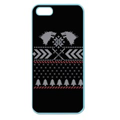 Winter Is Coming Game Of Thrones Ugly Christmas Black Background Apple Seamless Iphone 5 Case (color) by Onesevenart