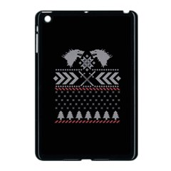 Winter Is Coming Game Of Thrones Ugly Christmas Black Background Apple Ipad Mini Case (black) by Onesevenart