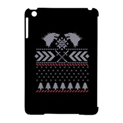 Winter Is Coming Game Of Thrones Ugly Christmas Black Background Apple Ipad Mini Hardshell Case (compatible With Smart Cover) by Onesevenart