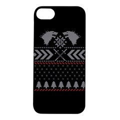 Winter Is Coming Game Of Thrones Ugly Christmas Black Background Apple Iphone 5s/ Se Hardshell Case by Onesevenart