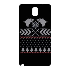 Winter Is Coming Game Of Thrones Ugly Christmas Black Background Samsung Galaxy Note 3 N9005 Hardshell Back Case by Onesevenart