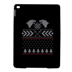 Winter Is Coming Game Of Thrones Ugly Christmas Black Background Ipad Air 2 Hardshell Cases by Onesevenart
