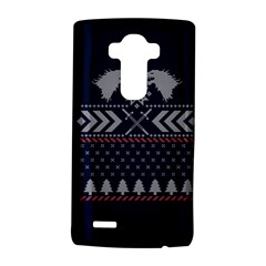 Winter Is Coming Game Of Thrones Ugly Christmas Blue Background LG G4 Hardshell Case by Onesevenart