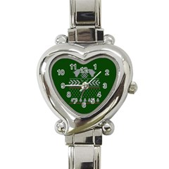 Winter Is Coming Game Of Thrones Ugly Christmas Green Background Heart Italian Charm Watch by Onesevenart