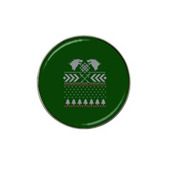 Winter Is Coming Game Of Thrones Ugly Christmas Green Background Hat Clip Ball Marker by Onesevenart