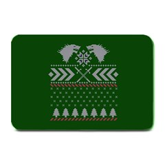 Winter Is Coming Game Of Thrones Ugly Christmas Green Background Plate Mats by Onesevenart