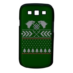 Winter Is Coming Game Of Thrones Ugly Christmas Green Background Samsung Galaxy S Iii Classic Hardshell Case (pc+silicone) by Onesevenart