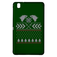 Winter Is Coming Game Of Thrones Ugly Christmas Green Background Samsung Galaxy Tab Pro 8 4 Hardshell Case by Onesevenart