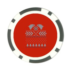 Winter Is Coming Game Of Thrones Ugly Christmas Red Background Poker Chip Card Guards (10 Pack)  by Onesevenart