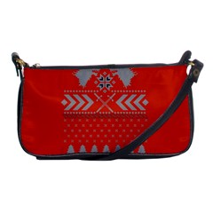 Winter Is Coming Game Of Thrones Ugly Christmas Red Background Shoulder Clutch Bags by Onesevenart