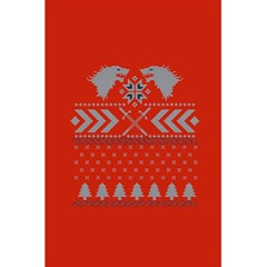 Winter Is Coming Game Of Thrones Ugly Christmas Red Background 5 5  X 8 5  Notebooks by Onesevenart
