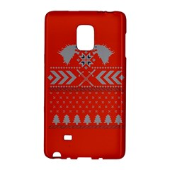 Winter Is Coming Game Of Thrones Ugly Christmas Red Background Galaxy Note Edge by Onesevenart
