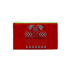 Winter Is Coming Game Of Thrones Ugly Christmas Red Background Cosmetic Bag (xs) by Onesevenart