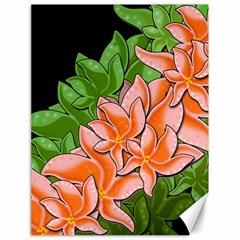 Decorative Flowers Canvas 18  X 24   by Valentinaart