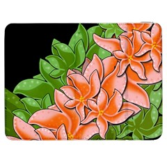 Decorative Flowers Samsung Galaxy Tab 7  P1000 Flip Case by Valentinaart