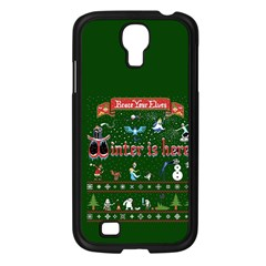 Winter Is Here Ugly Holiday Christmas Green Background Samsung Galaxy S4 I9500/ I9505 Case (black) by Onesevenart