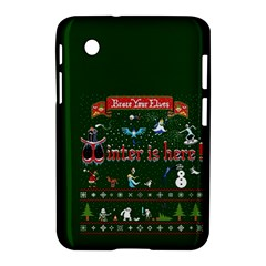 Winter Is Here Ugly Holiday Christmas Green Background Samsung Galaxy Tab 2 (7 ) P3100 Hardshell Case  by Onesevenart