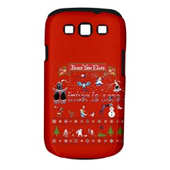 Winter Is Here Ugly Holiday Christmas Red Background Samsung Galaxy S Iii Classic Hardshell Case (pc+silicone) by Onesevenart