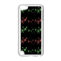 Decorative Xmas Snowflakes Apple Ipod Touch 5 Case (white) by Valentinaart