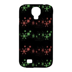 Decorative Xmas Snowflakes Samsung Galaxy S4 Classic Hardshell Case (pc+silicone) by Valentinaart