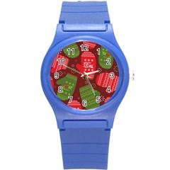 Glavniii Sait New Year Ceny Round Plastic Sport Watch (s) by AnjaniArt