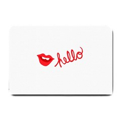 Hello Lip Red Sexy Small Doormat  by AnjaniArt
