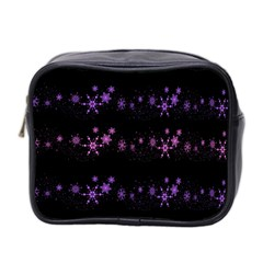 Purple Elegant Xmas Mini Toiletries Bag 2 Side by Valentinaart
