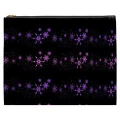 Purple Elegant Xmas Cosmetic Bag (xxxl)  by Valentinaart