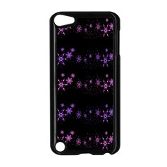 Purple elegant Xmas Apple iPod Touch 5 Case (Black) by Valentinaart