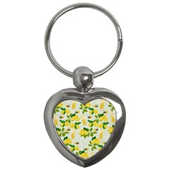Lemon Print Fruite Juise Fress Drink Key Chains (heart)  by AnjaniArt
