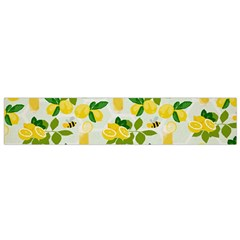 Lemon Print Fruite Juise Fress Drink Flano Scarf (small) by AnjaniArt
