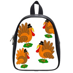 Thanksgiving Turkeys School Bags (small)  by Valentinaart