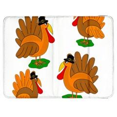 Thanksgiving Turkeys Samsung Galaxy Tab 7  P1000 Flip Case by Valentinaart