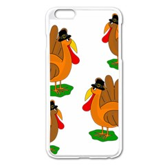 Thanksgiving Turkeys Apple Iphone 6 Plus/6s Plus Enamel White Case by Valentinaart