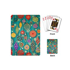 Ornaments Homemade Christmas Ornament Crafts Playing Cards (mini)  by AnjaniArt