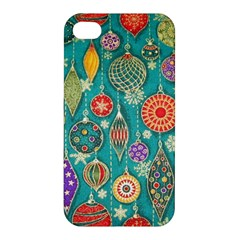 Ornaments Homemade Christmas Ornament Crafts Apple Iphone 4/4s Hardshell Case by AnjaniArt