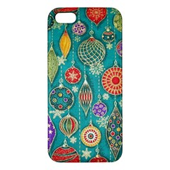 Ornaments Homemade Christmas Ornament Crafts Apple Iphone 5 Premium Hardshell Case by AnjaniArt