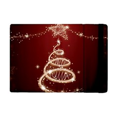 Shiny Christmas Tree Apple Ipad Mini Flip Case by AnjaniArt