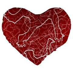 Singt Large 19  Premium Heart Shape Cushions by AnjaniArt