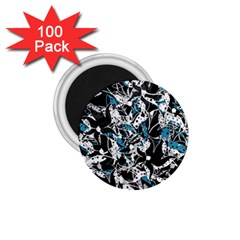Blue Abstract Flowers 1 75  Magnets (100 Pack)  by Valentinaart