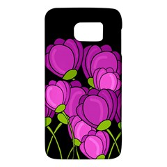 Purple Tulips Galaxy S6 by Valentinaart