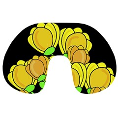 Yellow Tulips Travel Neck Pillows by Valentinaart